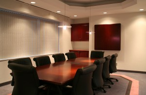 Office Lighting in Conference Room